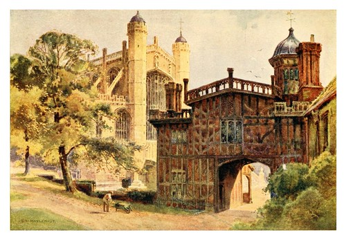 017- Los claustros de la Herradura y capilla San George- Windsor castle 1910- Ernest William Haslehust