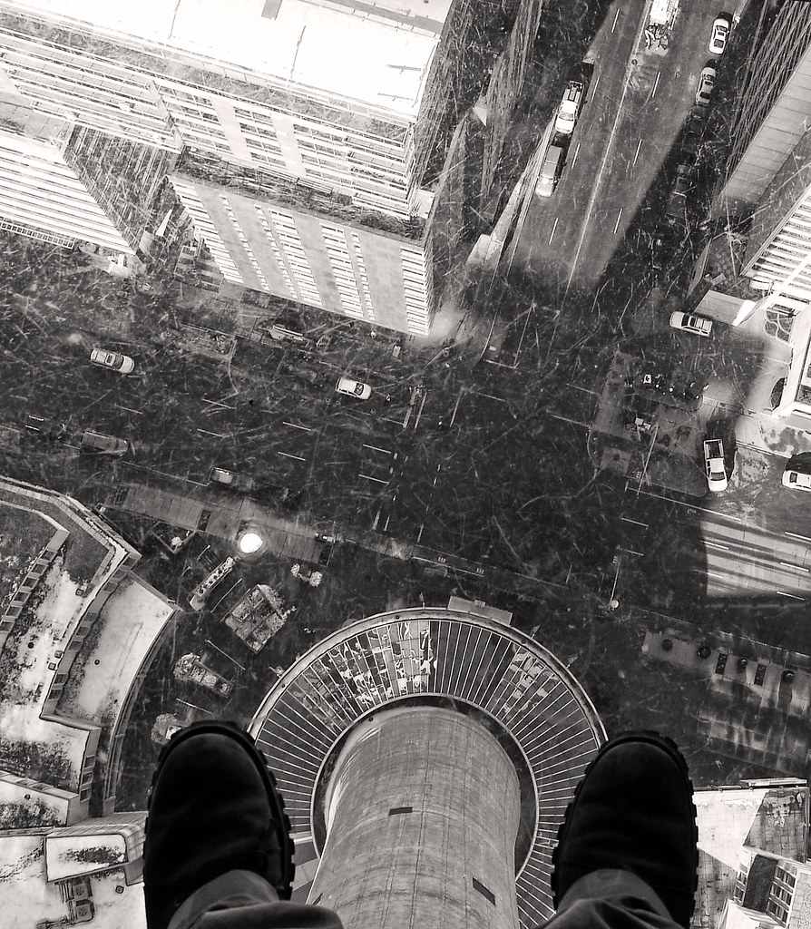 Glass Floor at the Calgary Tower