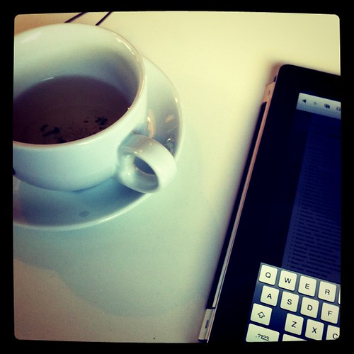 Green tea and iPad
