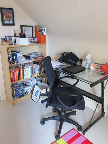 M's desk