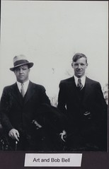 Art and Bob Bell (Buttons McTavish) Tags: ohio art hat cane ties suits bell brothers bob fedora uncles gansters piqua c1930