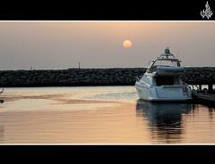 Good Morning (5th day of Ramadan - 2011) (Othman Ch) Tags: morning cruise red sea sky water yellow mall boat al ship peace silent good kuwait munir ch osman usman fahaheel muneer kout othman choudhry choudhryuhotmailcom choudhryuyahoocom 0096594418559 94418559