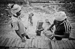 | (ayashok photography) Tags: girls boy bw woman india man lady self asian blackwhite nikon asia indian working documentary july dude desi bnw bharat bharath desh barat 2011 barath thenkasi brickfactory ayashok nikond300 tokina1116mm