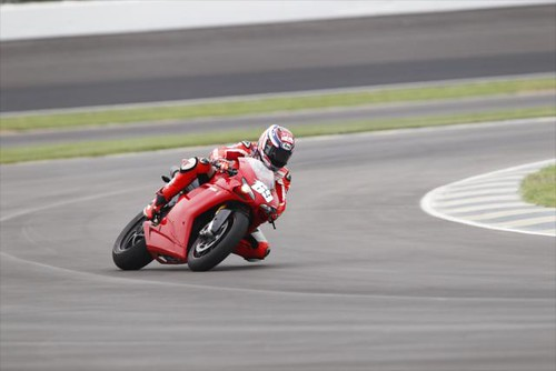 Hayden & his Ducati on the new pavement