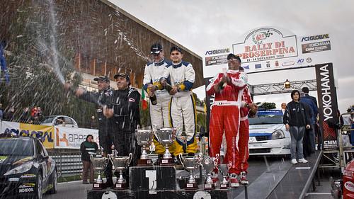 Il podio del 25° Rally di Proserpina