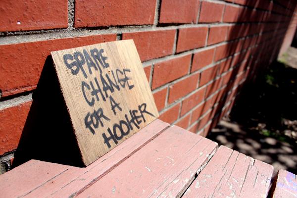 beggar sign