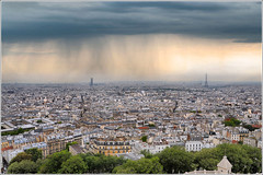 Rooftop (Jean-Michel Priaux) Tags: city sky panorama cloud paris france rooftop rain weather architecture landscape europe horizon pluie montmartre pointofview sacrécoeur ciel toureiffel paysage civilisation priaux mygearandme