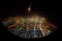 The crazy diamond (Catch the dream) Tags: night lights fly dubai air uae aerial unitedarabemirates birdseyeview dazzling