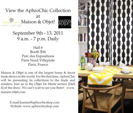 AphroChic Maison et Objet Invitation