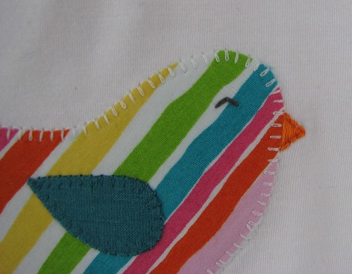 Bird Applique - close up