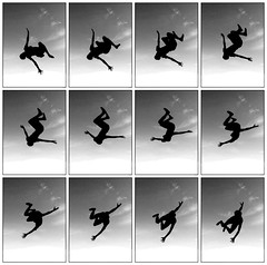 Flip in motion (Ben Dunster) Tags: silhouette frames timelapse ipod touch motioncapture trampoline images multiple burst sideflip backlip
