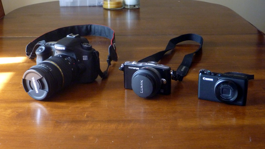 Canon 60D, Olympus e-pm1, Canon S95