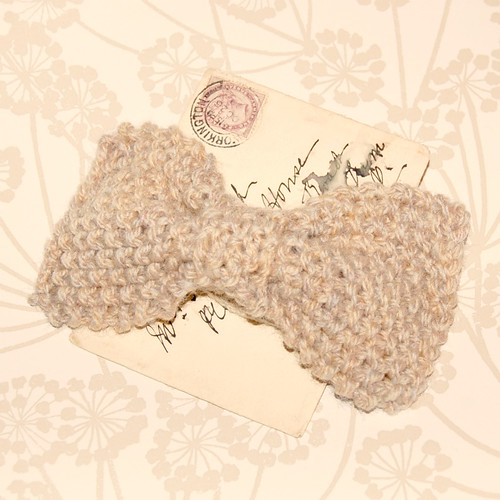 Knitted Bow Head Band by gracefaceboutique