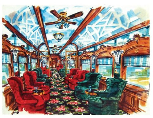 Greenbrier Presidential Express - observation lounge