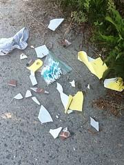 Q tips! What!?!? (rosemontsb) Tags: broken bag ceramic found plastic sidewalk tip pottery q qtip