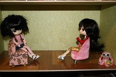 Girls' Room 13 of 21 (illustratedlibrarian) Tags: dal couch chi hana rement pinkchair chiaki puki dollroom roombox tezca dollroombox