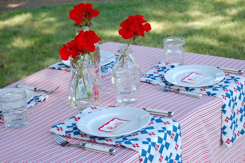 4th of July Ideas - Red White & Blue Picnic from project wedding