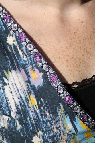 Maxi Dress Trim Close Up