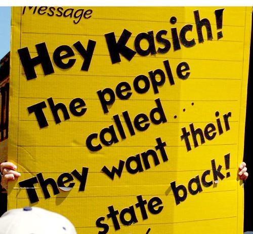 Kasich sign