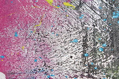 IMG_2457 (goldenfeathers) Tags: pink white color yellow painting artwork paint cyan magenta textured blobs brushstrokes