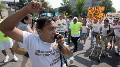 An immigration rights demonstration took place in Atlanta on July 2, 2011 to oppose a draconian law that targets people from various backgrounds. A federal judge has already struck down parts of the bill. by Pan-African News Wire File Photos