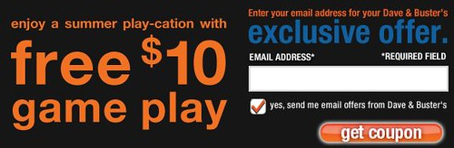 Dave & Busters coupon