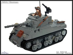 M4A1 Sherman Tank updatez (=DoNe=) Tags: model tank lego wwii homemade ww2 customized custom done sherman m4a1 minifigures brickarms m4a1shermantank