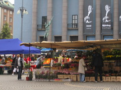 Market in Stockholm (La Citta Vita) Tags: openairmarket publicspace urban placemaking retail shopping stockholm city townsquare market vendors hotorget sverige konserthuset kungsgatan hotorgshallen htorget