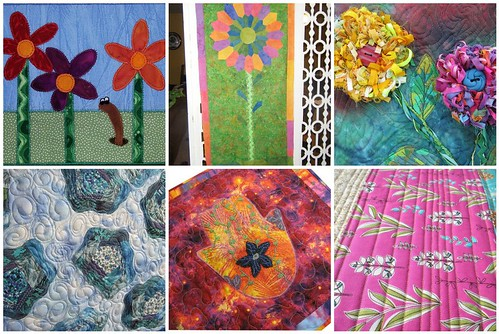 Project QUILTING Off Season FLORAL Challenge Pieces