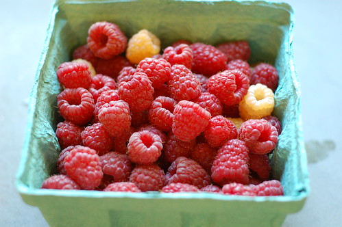 Raspberries by Eve Fox, Garden of Eating blog, copyright 2011