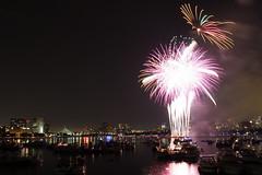 And the rockets red glare (ejhrap) Tags: city boston skyline night fireworks massachusetts 4 charlesriver 4th july celebration fourthofjuly independenceday 2011