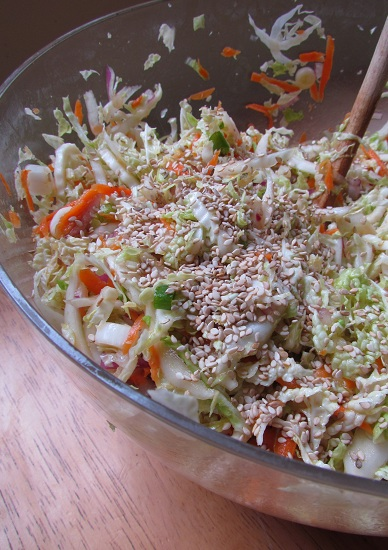 Asian Coleslaw with Sesame Seeds