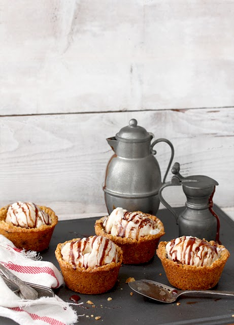 5 BakersRoyale-Choco Chip Mini Ice Cream Tarts Crumb Pies Idea Pewter