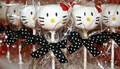 Hello Kitty Cake Pops (Madison Sweet) Tags: cake cupcakes hellokitty treats bakery sweets custom goodies favors confections cakeballs cakepops madisonsweets