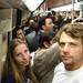 Esmagados no metrô em Santiago - Chile