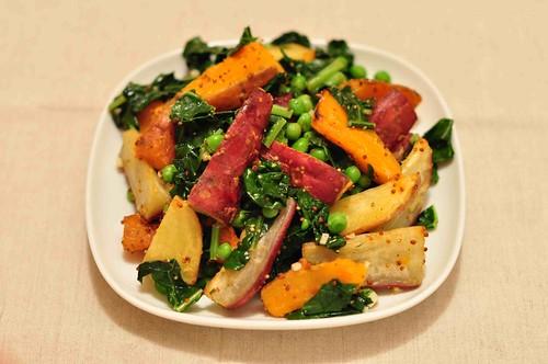Warm Potato and Pea Salad