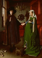 Giovanni Arnolfini and His Bride (Ellis Art History) Tags: wood portrait dog london mirror bride marriage nationalgallery oil vaneyck holdinghands janvaneyck flemish tempera 15thcentury northernrenaissance giovanniarnolfini ellisarthistory