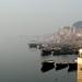 A sagrada Varanasi por detras da poluicao