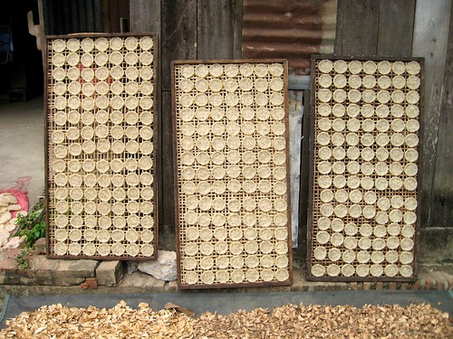 Drying cakes, Laos