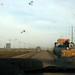 Estrada empoeirada e esburacada para Siem Reap