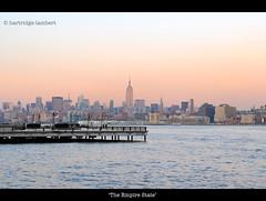 Empire of the Sun (hartridge-lambert) Tags: nyc newyorkcity sunrise jerseycity manhattan hudsonriver empirestatebuilding empire