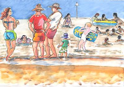 A la Plage - On the Beach - 02 by alain bertin