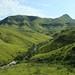 Montanhas verdes da regiao