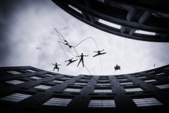 Dancing in the air #1 (. Jianwei .) Tags: street silhouette vancouver flying dance geometry candid sony streetlife 365  vancouverlibrary a500 jianwei kemily bestcapturesaoi elitegalleryaoi ringexcellence aeriosadancetroupe tgam:photodesk=togetherness