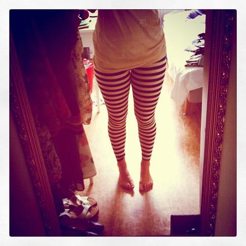 Yes!!! Efter 2 års letande: randiga leggings!! <3