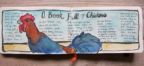 Rooster Watercolor by Danalynn C