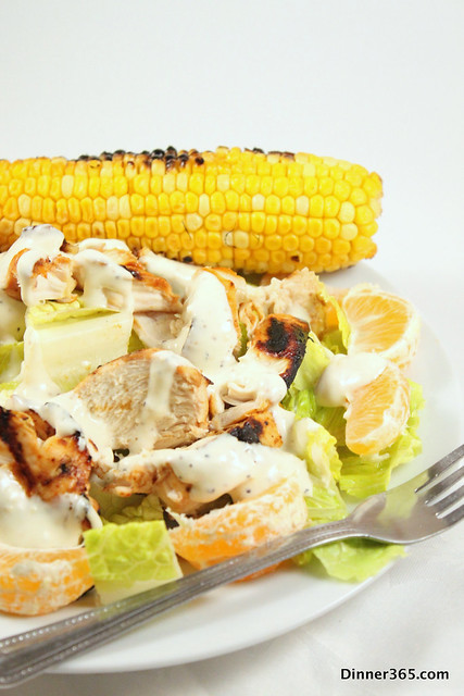 Day 196 - Grilled Orange Chicken Salad and Corn on the Cob
