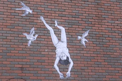Naked woman on a wall in Footscray