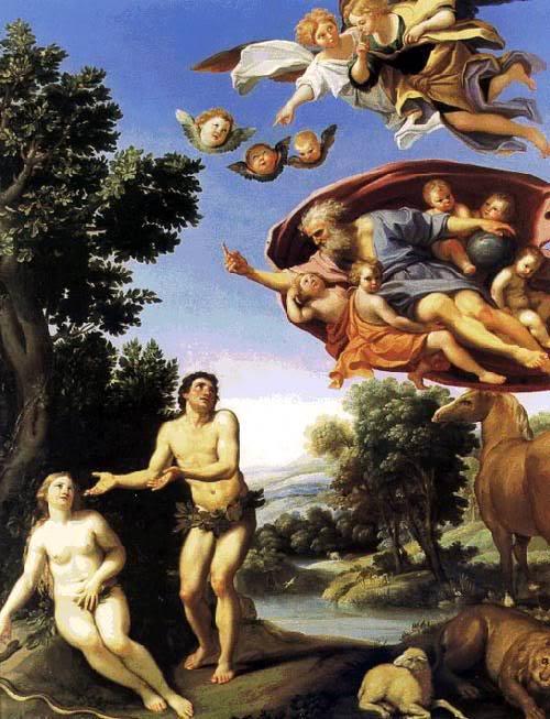 Domenico Zampieri dit Le Dominiquin, Dieu réprimandant Adam et Eve (1623-1625)