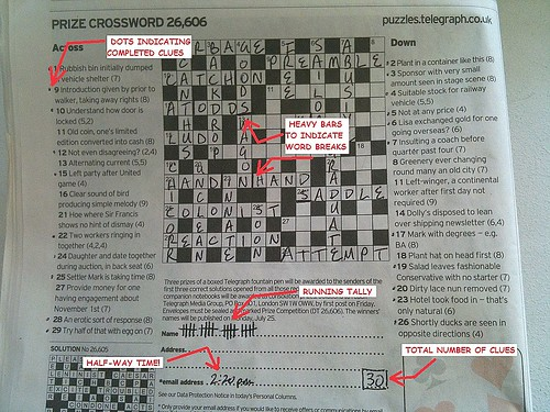 Annotated Crossword